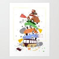 VW Tower Print Art Print