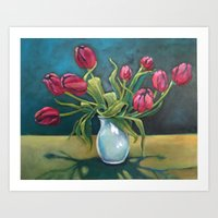 Cathy's Tulips Art Print