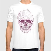 Cool Skull Mens Fitted Tee White SMALL