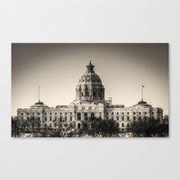 Minnesota Capitol Building Canvas Print