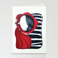 Little red in the woods Stationery Cards