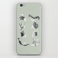 Botanica Letters | Pale Green iPhone & iPod Skin