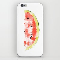 Watermelon Watercolor iPhone & iPod Skin