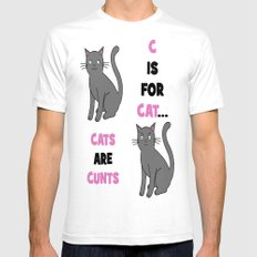 C is for Cat... Mens Fitted Tee SMALL White