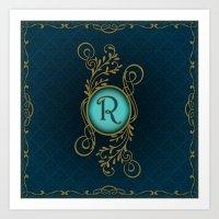 Monogram R Art Print