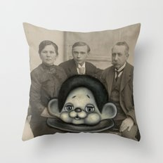 Pop Surreal Repainted Vintage Photo in Oil Paint Throw Pillow