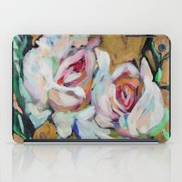 Two Roses On Gold iPad Case