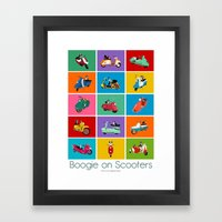 Boogie On Scooters Framed Art Print