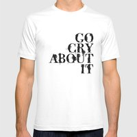 Cry Mens Fitted Tee White SMALL