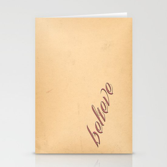 BELIEVE Stationery Card
