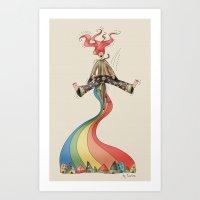 Rainbow {Weeeee} Art Print