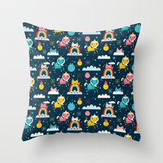 Space Unicorn Throw Pillow