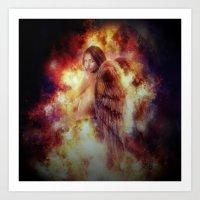 Facing Fire Doll Art Print