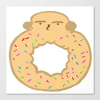 Bovi-doughnut Canvas Print