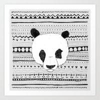 PANDA PATT! Art Print