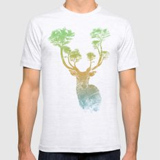 Summer Stag Mens Fitted Tee Ash Grey SMALL