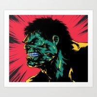 Hulk - Green Art Print