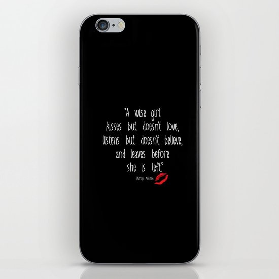 Esperantos Quotes #1 (Marilyn) iPhone & iPod Skin