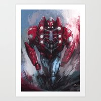 Heavy spider Art Print