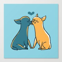 Chihuahua Kisses Canvas Print