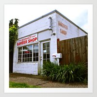 Art Print featuring Norma's Barbershop  by Vorona Photography