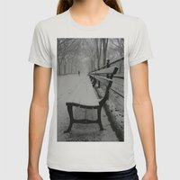Have A Seat Womens Fitted Tee Silver SMALL