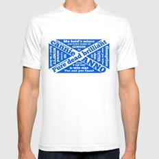 Scottish slang and phrases Mens Fitted Tee White SMALL