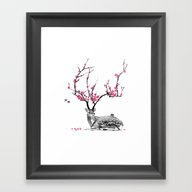 Framed Art Print featuring Blooming by TJ Zhang