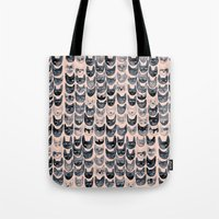 Black & Pink Cats Tote Bag