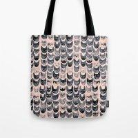Black & Pink Cats Tote Bag
