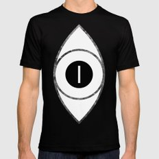 EYE of Line SMALL Black Mens Fitted Tee