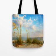 Sea Oats Along The Beach Tote Bag