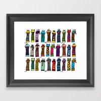 Slithery Socks Framed Art Print