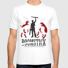 Boomstick White Mens Fitted Tee SMALL