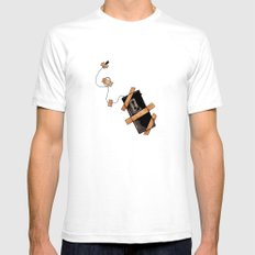 Snitch White Mens Fitted Tee SMALL