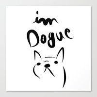 Dogue French Bulldog Canvas Print