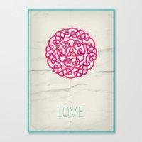 Love poster Canvas Print