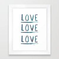 Love Love Love Framed Art Print