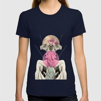 La Tigre Womens Fitted Tee Navy SMALL