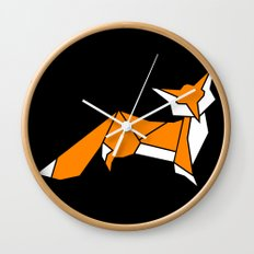 Origami Little Fox Wall Clock
