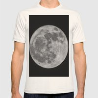 full moon Mens Fitted Tee Natural SMALL