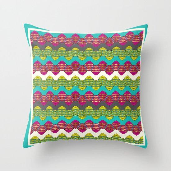 Decor Border blue Throw Pillow