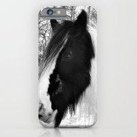 Horse. Black+White.Snow. iPhone 6 Slim Case