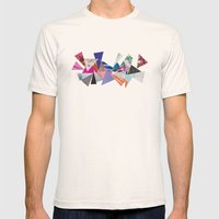 Triangles Mens Fitted Tee Natural SMALL