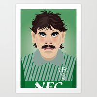 Big Neville Southall, Everton and Wales Greatest goalkeeper Art Print