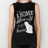 Home With Cat Biker Tank
