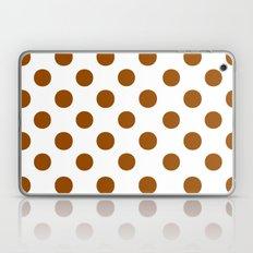 Polka Dots (Brown/White) Laptop & iPad Skin