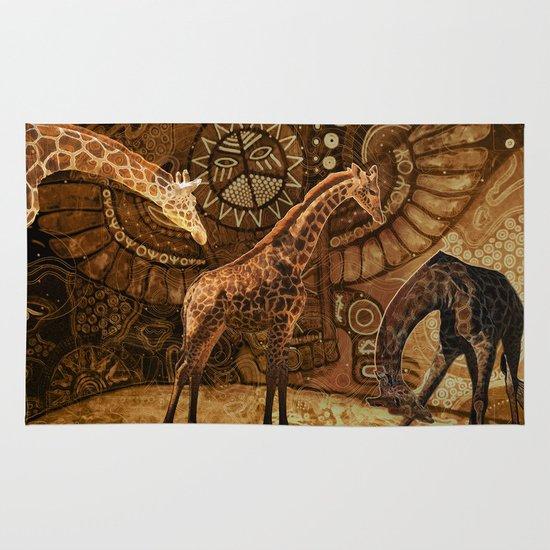 Three Giraffes Area & Throw Rug