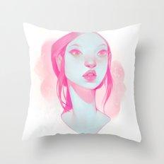 visage - pink Throw Pillow