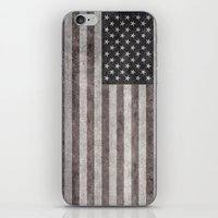 American flag - retro style desaturated look iPhone & iPod Skin